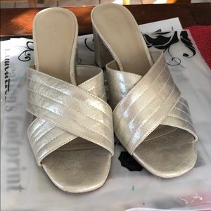 Ann TAylor Gold slides